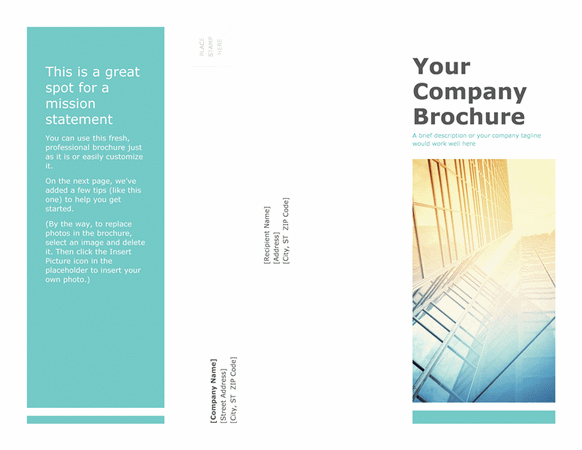 Business company brochure template for powerpoint 2013 or for Brochure templates for powerpoint