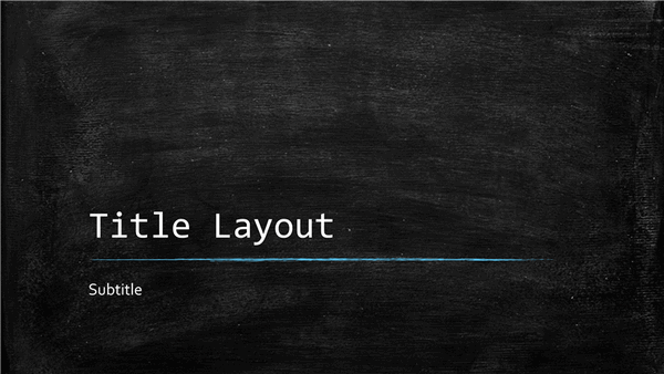 chalkboard education presentation  widescreen  template
