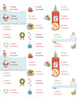 Christmas Tag Labels Gift Certificate Template