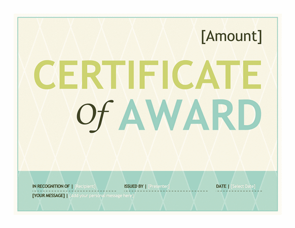 Download award for microsoft office 2003 2007 2010 2013 2016 templates gift certificate template award yelopaper Choice Image