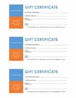 Gift Certificate Template Color Block
