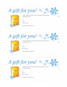 Gift Certificate Template For Microsoft Word