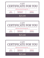 Gift Certificate Templates 3 Blocks