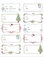 Gift Labels Gift Certificate Template Free