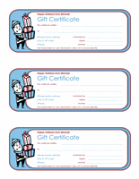 Holiday Free Gift Certificate Template