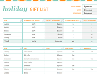 Holiday Gift List Free Certificate Template