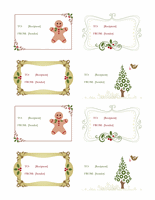 Holiday Labels Gift Certificate Template