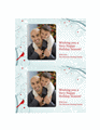 Holiday Photo Card (snowflake Design)