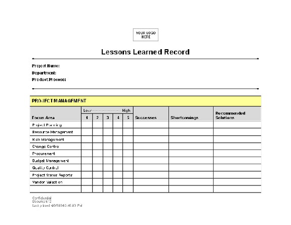 Project lessons learned template lessons learned record001141722g maxwellsz