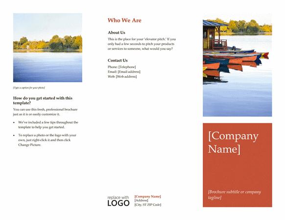 Riverside natural brochure template for word 2013 or newer for Word 2013 brochure templates