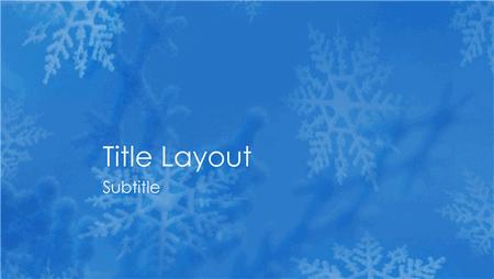 Snowflakes Design Slides