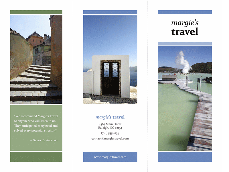 Tri-fold Brochure In Travel Theme