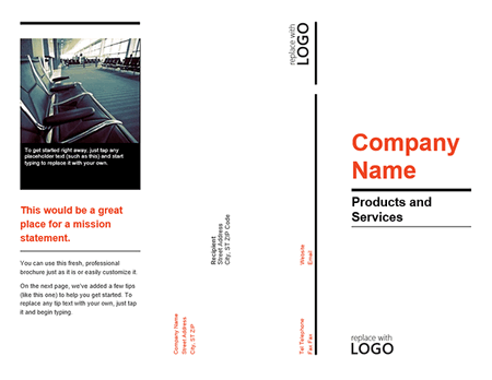 Tri fold product service company brochure template for for Tri fold brochure template word 2010