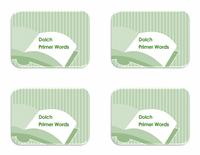 Vocabulary Preprimer Flash Card Template