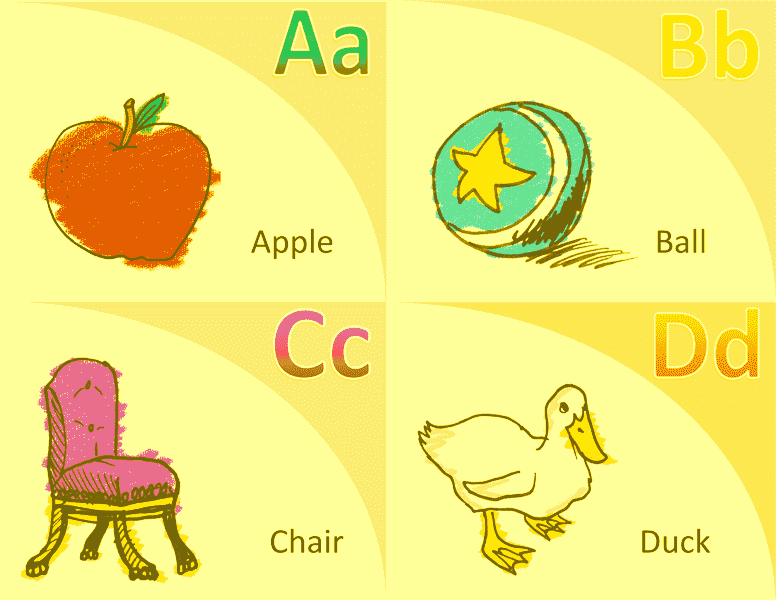 Alphabet Vocabulary Flash Card Template Word 2013 05