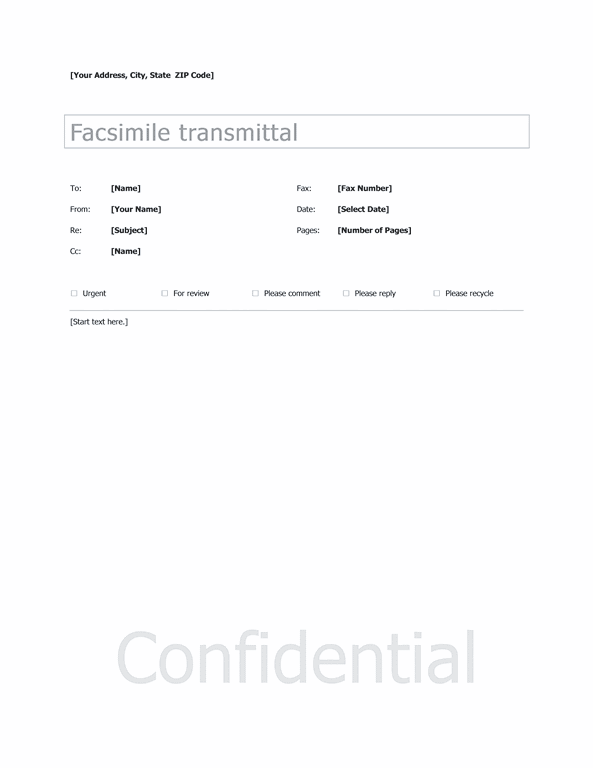 basic fax sample cover sheet template for word 2013 or