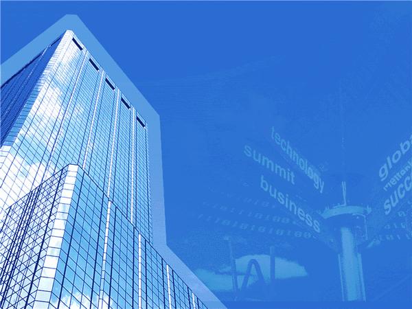 Big Business Design Slides Blue