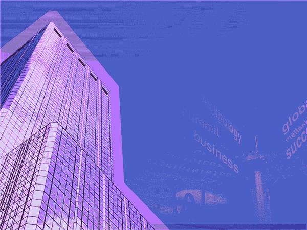Big Business Design Slides Purple