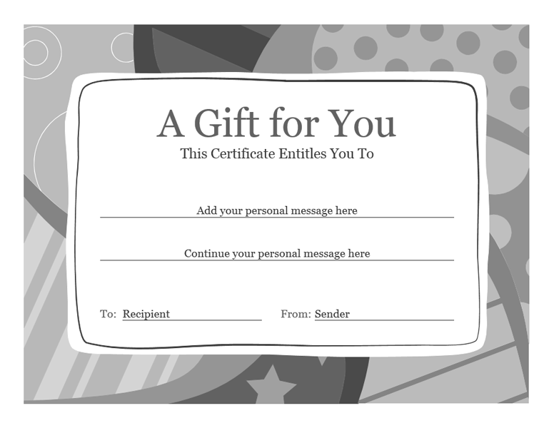 word 2013 gift certificate