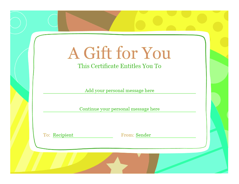 Birthday Gift Certificate Template Sample 3