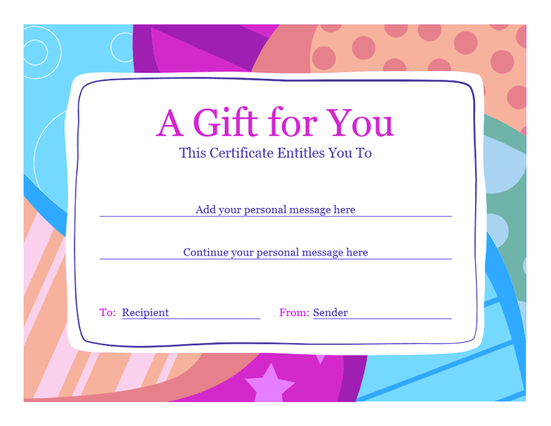 Birthday Gift Certificate Template Sample 4