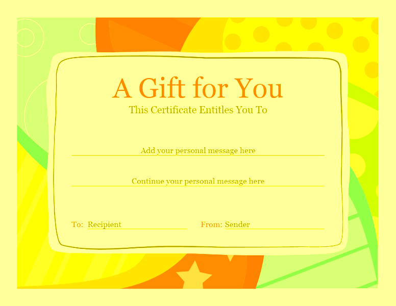 Birthday Gift Certificate Template Sample 5