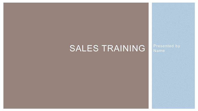 training slides template