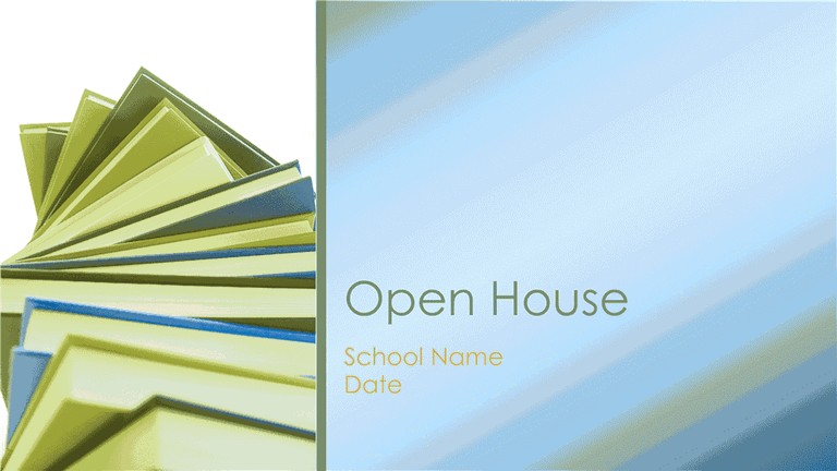open house presentation in new school year template for powerpoint