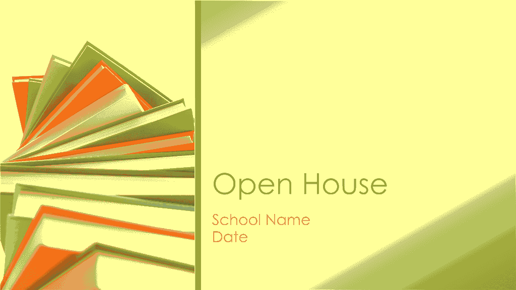 classroom open house presentation in new school year yellow