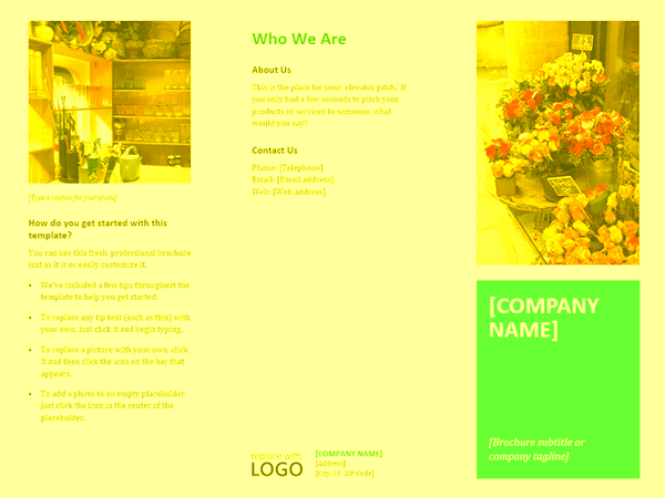 brochure template word 2013 - company brochure flowers design template for word 2013 or