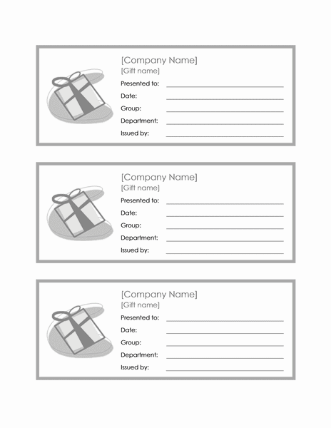 Employee Gift Certificate Template Sample 1