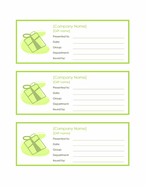 Employee Gift Certificate Template Sample 2