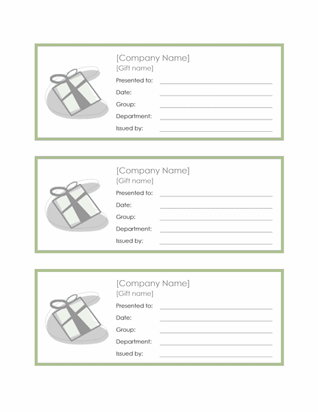 Employee Gift Certificate Template Sample 4