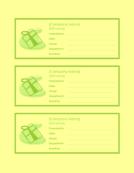 Employee Gift Certificate Template Sample 5