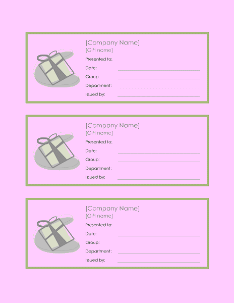 Employee Gift Certificate Template Sample 6