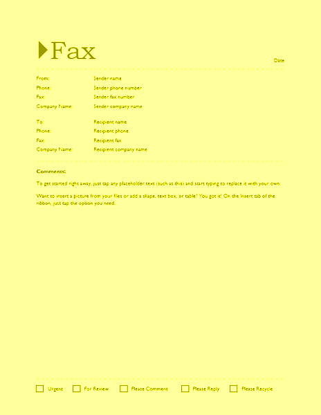 fax cover sheet editable template for word 2013 or newer inside fax