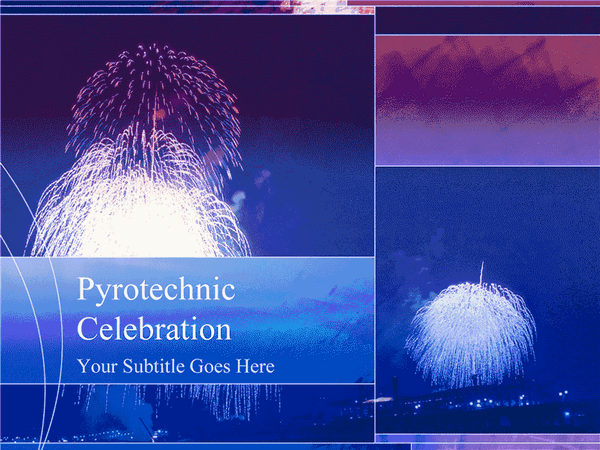Fireworks Design Slides Blue
