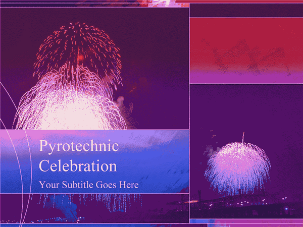 Fireworks Design Slides Purple