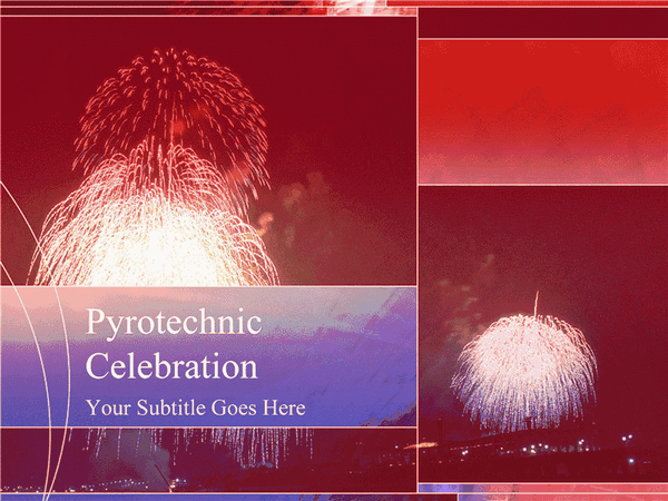 Fireworks Design Slides Red