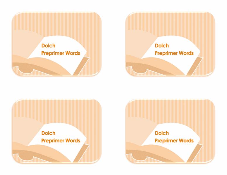 Flash Card Template Word 2013 02