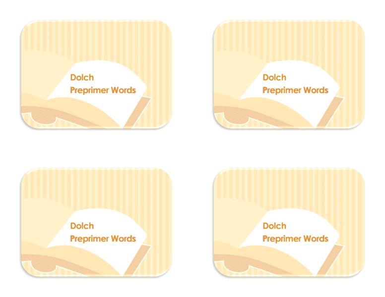 Flash Card Template Word 2013 03