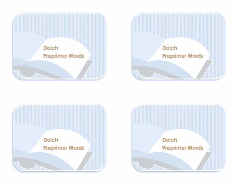Flash Card Template Word 2013 04