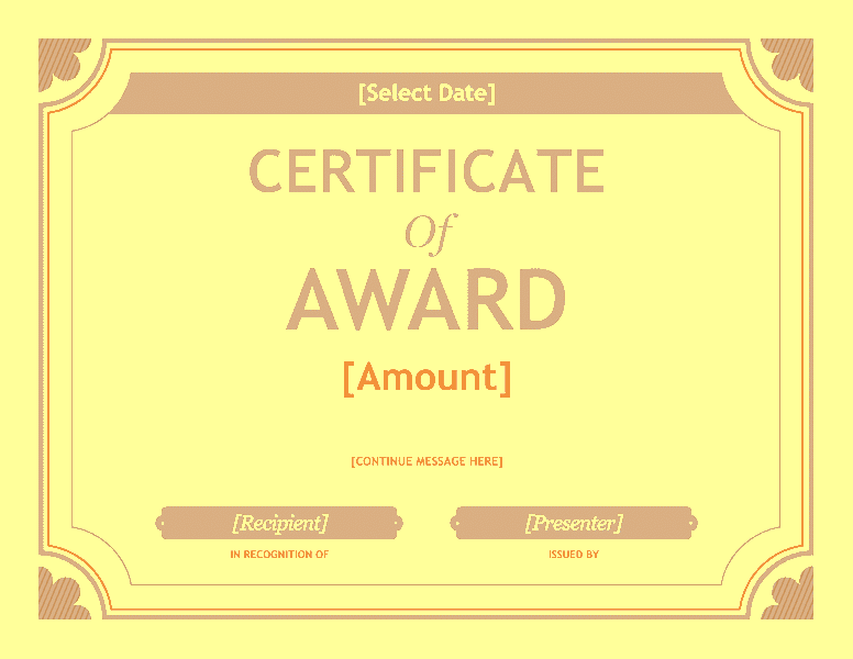 Free Gift Certificate Template Award Template For Word 2013 Or – Template Award
