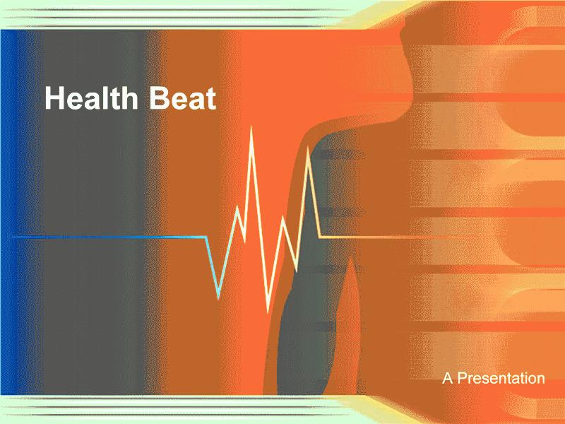 health beat design template template for powerpoint 2007 or newer inside ppt slides cart. Black Bedroom Furniture Sets. Home Design Ideas
