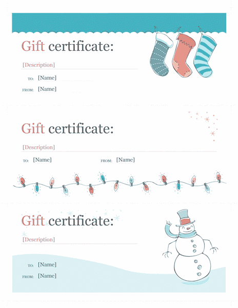 Holiday Gift Certificate Template Sample 4