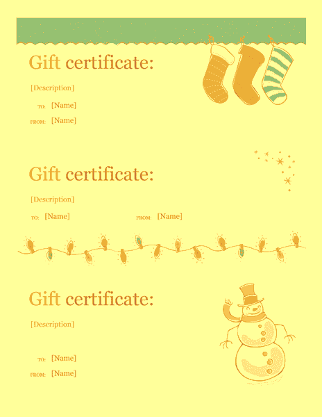 Holiday Gift Certificate Template Sample 5