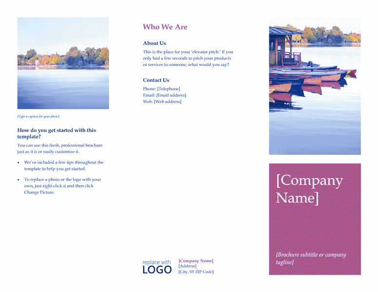 brochure template word 2013 - riverside natural brochure template for word 2013 or newer