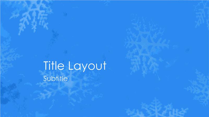 Snowflakes Design Slides Blue