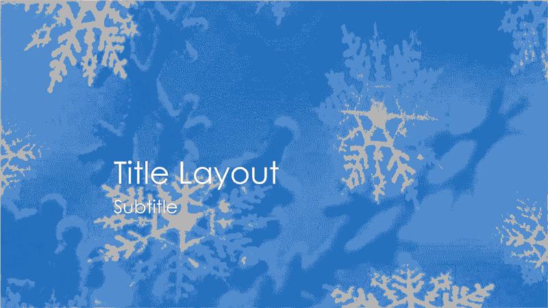 Snowflakes Design Slides Grayscale