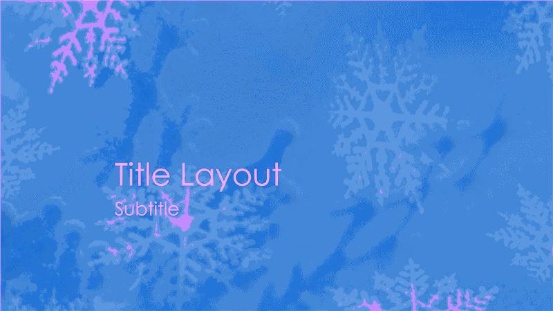 Snowflakes Design Slides Purple